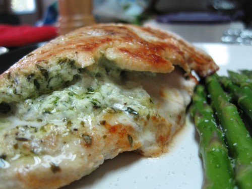 Herb and Goat Cheese Stuffed Chicken Breast